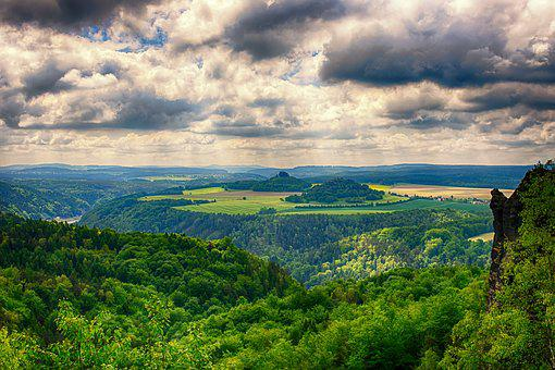 Landscape, Nature, View, Sky, Clouds, Mountains
