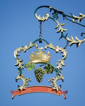 Crown, Emblem, Blacksmithing, Forged, Shield, Wine