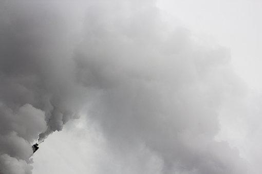 Smoke, Chimney, Sky, Pollution, Industry, Factory