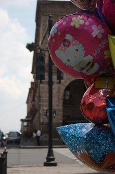 Balloons, Float, Center, Lighthouse, Calm