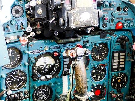 Flying, Cockpit, Control Panel, Instruments, Flight