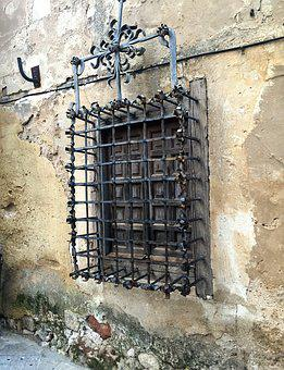 Window, Old Facade, Grate Old, Forging