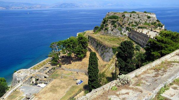 Fortress, Paleo Frodrio, Island, Corfu, View