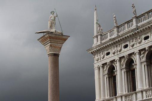 Venice, Italy, Overcast, Rainy Landscape, Italian City
