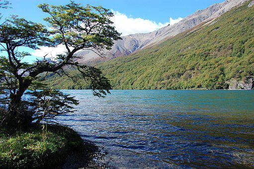 Lake Of The Desert, Argentina Patagonia, Lake
