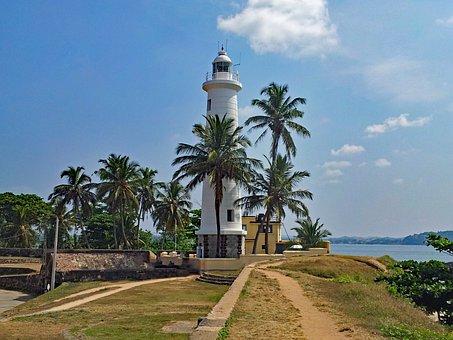 Bile, Sri Lanka, Asia, Coast, Sea, Lighthouse, Old Town