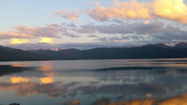 Walchensee, Evening Sun, Mountains