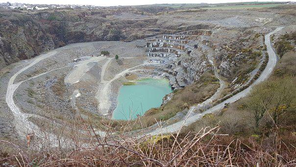 Slate, Mine, Open Cast, Delabole, Cornwall, Quarry, Uk