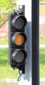 Traffic Lights, Orange, Traffic Signal, Light Signal