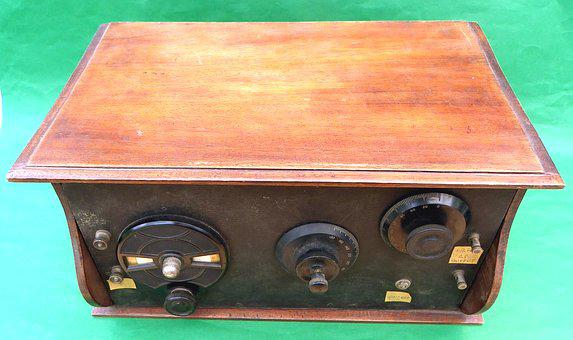 Vintage, Radio, Receiver, 3, Valve