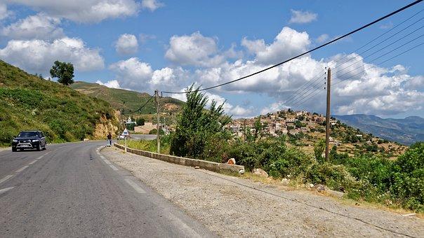 Kabylie, Algeria, Africa, Landscape, Road
