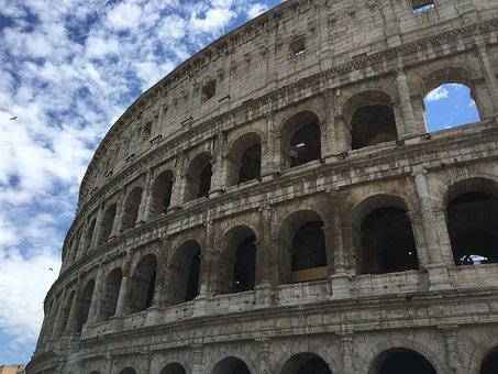 Rome, Roma, Italy, Coliseum, Architecture, Travel