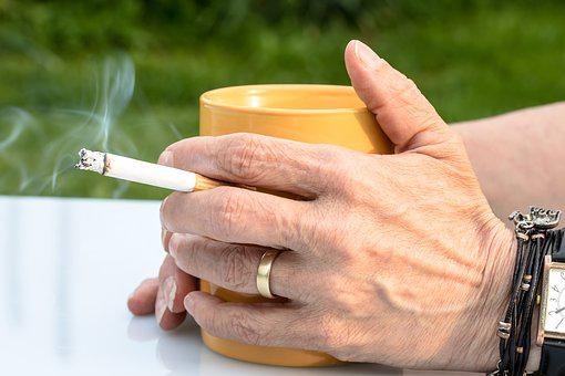 Cigarette, Fag, Hands, Smoke, Hand, Coffee Cup, Tobacco