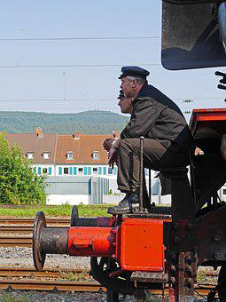 Steam Locomotive, Train Driver, Stoker, Work Break