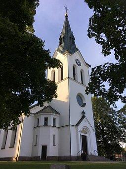Church, Värnamo, Sweden, Tower, Himmel, Blue, Blue Sky