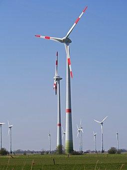 Wind Park, Windräder, 180-meter-class, Warnanstrich