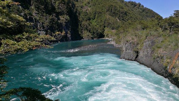 Waterfall, Petrohue, Chile