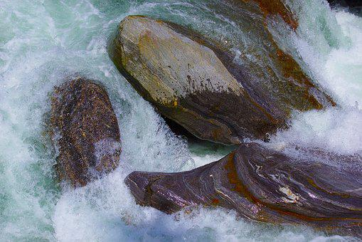 Water, Wasser, Waterfall, Rapids, Electric Current