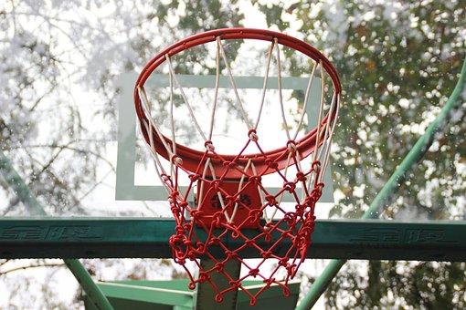 Basketball, Basketball Hoop, Playground, Rain