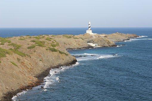 Lighthouse, Ocean, Sea, Navigation, Sky, Coast