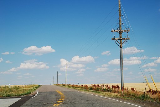 Connections, Communication, Telephone Lines, Road