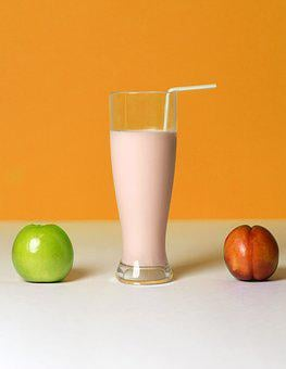 Smoothie, Drink, Fruit, Shake, Apple, Peach, Health