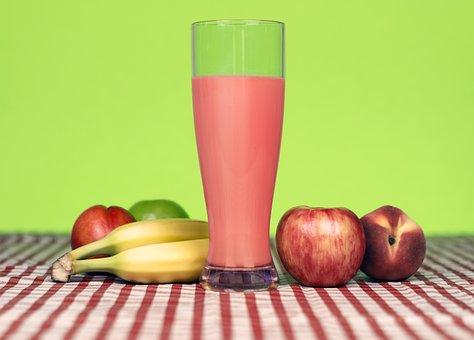 Fruit, Smoothie, Shake, Drink, Apple, Banana, Peach