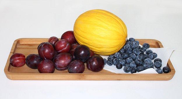 Fruit, Plums, Honeydew Melon, Melon, Blueberry