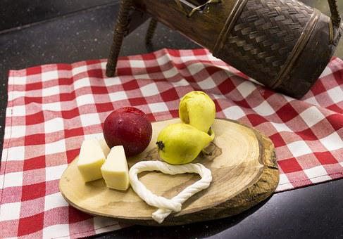 Food, Fruit, Cheese, Wine, The Drink, Kitchen, Pear