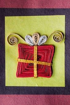 Paper Art, Gift, Loop, Packed, Christmas