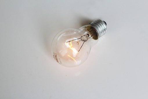 Close Up, Glowing, Light, Bulb, Bright, Electric, Glass