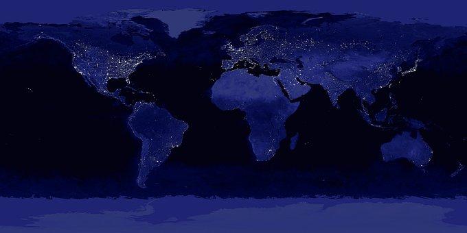 Earth, World, Lighting, Night, Globe, Global