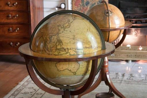 Globe, Antique, Map Of The World, House, Navigation