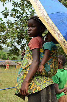 Africa, Little Girl, Big Sister, Humanitarian Aid