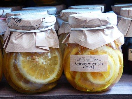 Lemon, Citrus, Jars, Mint, Refreshment, Vitamin C