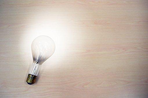 Light Bulb, Idea, Light, Dim, Bright, On, Turn