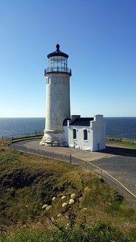 Lighthouse, Pacific, Ocean, Sea, Travel, Shore, Coast