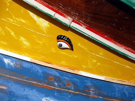 Boat, Eye, Osiris, Eye Of Osiris, Luzzu, Fishing