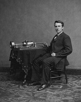 Inventor, Thomas Alva Edison, Portrait, Man, 1878
