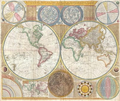 Map Of The World, Continents, Globe, Global, Map