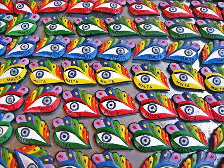 Eye, Osiris, Eye Of Osiris, Mediterranean, Traditional