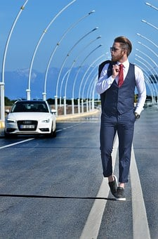 Fashion, Male, Beautiful, M, Car, Street, Road, Model