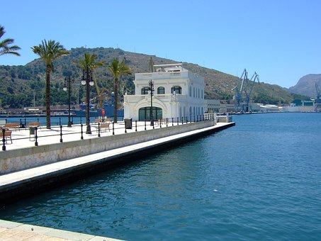 Cartagena, Murcia, Port, Nautical, Club, Race, Old