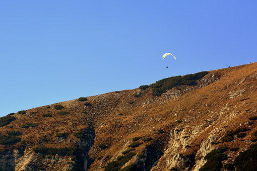 Paragliding, Mountain, Fly, Parachute, Extreme Sport