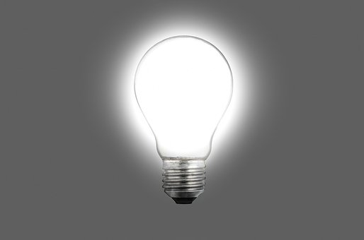 Bulb, Light, White, Concept, Bright, Photography