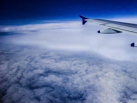 Earth, Sky, Space, Blue, Nature, Plane, Sky Clouds