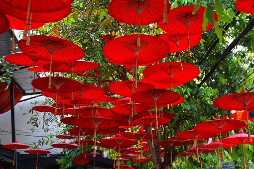 Umbrellas, Canopy, Red, Parasol, Protection, Symbol