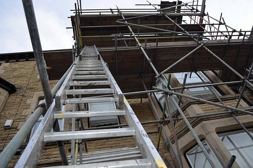 Ladder, Scaffolding, Architecture, Construction, Repair