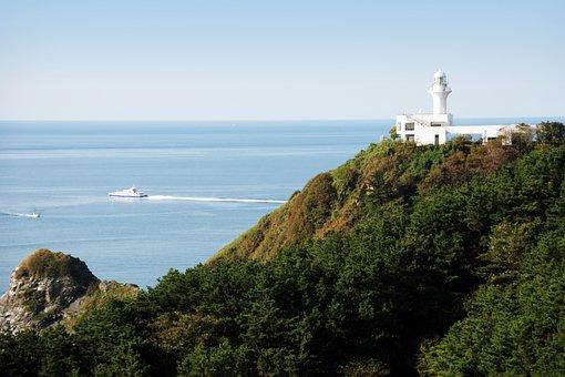 Island, Travel, Small Global, Lighthouse, Sea