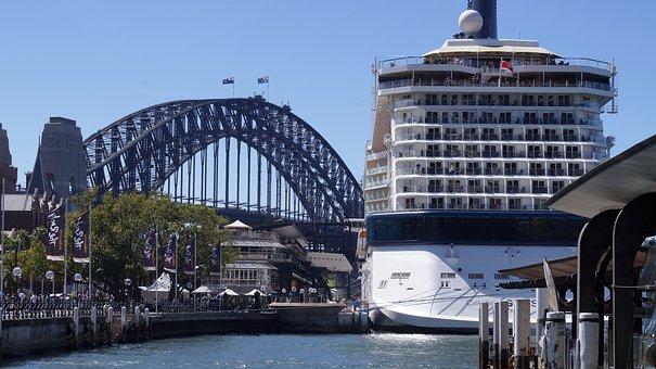 Cruise Ship, Sydney, Harbour, Bridge, Cruise, Ship